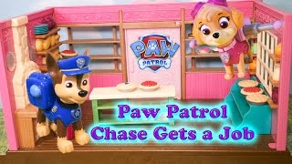 getlinkyoutube.com-PAW PATROL Nickelodeon Paw Patrol Chase gets a Job Toys Video Parody