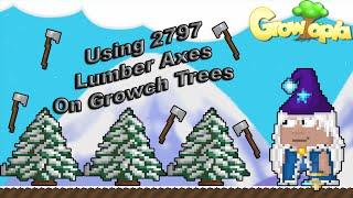 getlinkyoutube.com-Growtopia - Using 2797 Lumber Axes On Growch Trees!