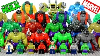 getlinkyoutube.com-Incredible LEGO Hulk™ Minifigure & Big Figure Complete Collection Marvel Super Heroes