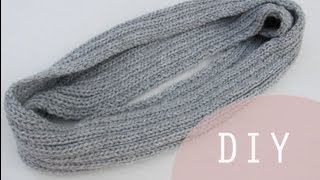getlinkyoutube.com-Aprender a tejer una bufanda cerrada o bufanda mágica DIY