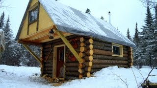 getlinkyoutube.com-Cozy Log Cabin- How I built it for less than $500.