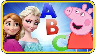 getlinkyoutube.com-Frozen Peppa pig Mashup song! Kids Songs Nursery Rhymes Daddy Finger Family