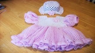 getlinkyoutube.com-VESTIDOS BEBE Tejidos en Crochet Ganchillo Parte1 ( diseños )