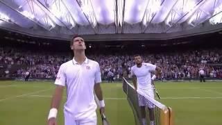 getlinkyoutube.com-Djokovic hits 'one of the great returns of all time' - Wimbledon 2014