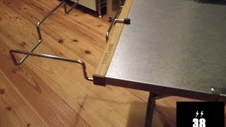 UNIFLAME(ユニフレーム)焚き火テーブルをカスタマイズ・snowpeak(スノーピーク)ガビングフレーム取り付け簡単改造