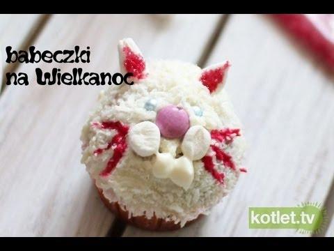 Cupcake zajączek lub kotek na Wielkanoc - Kotlet.TV