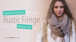getlinkyoutube.com-Rustic Fringe Infinity Scarf Crochet Tutorial