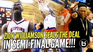 getlinkyoutube.com-Zion Williamson Delivers in the Clutch! State Championship Bound 36/13 Raw Highlights!
