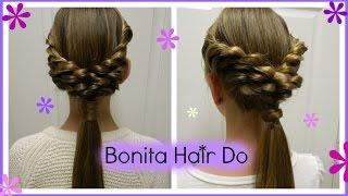 getlinkyoutube.com-Loopy Twist Ponytail /  Bonita Hair Do
