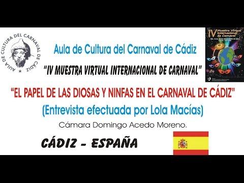 IV MUESTRA VIRTUAL - EL PAPEL DE LAS DIOSAS Y NINFAS EN EL CARNAVAL DE CÁDIZ
