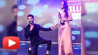 Shahid Kapoor Proposes Mira Rajput In Public At Hello Hall Of Fame Awards (VIDEO VIRAL)