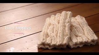 getlinkyoutube.com-Knit Boot Cuffs with pattern | 1 Hour Project Knitting Tutorial with Stefanie Japel