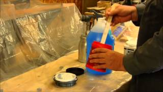 getlinkyoutube.com-Spraying latex paint with a HVLP paint gun.