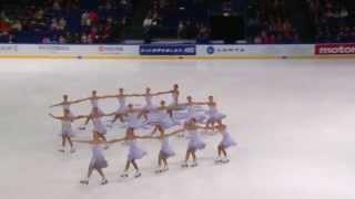 getlinkyoutube.com-Paradise - Synchronized Skating, Finlandia Trophy 2015