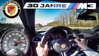 BMW M3 Manhart MH3 550 HP TOP SPEED 270 km/h Autobahn Test by AutoTopNL