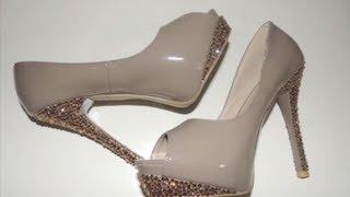 getlinkyoutube.com-DIY Decora tus Zapatos con Cristales FACIL