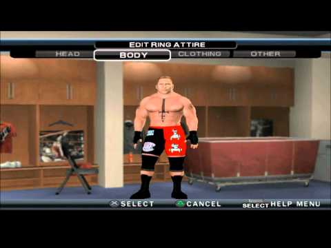 WWE 13 BROCK LESNAR CAW FORMULA FOR SVR 11 PS2 HD