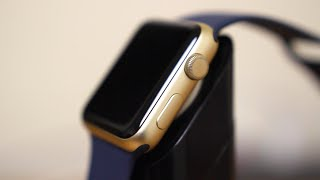 getlinkyoutube.com-Gold Apple Watch Sport Unboxing!