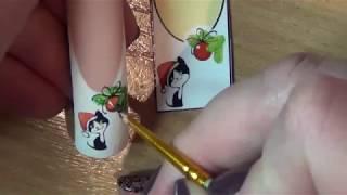getlinkyoutube.com-художественная роспись ногтей.Nail art painting
