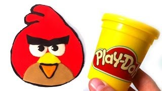 getlinkyoutube.com-Play Doh How to make Angry Birds with play dough by Lababymusica