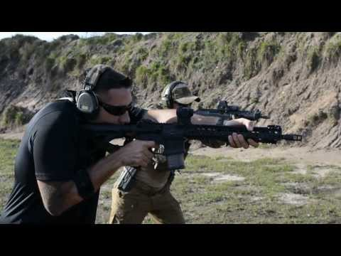 Full auto Sig 552 racing my Knights/Noveske AR