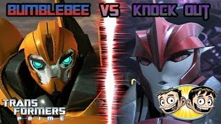 getlinkyoutube.com-Transformers Prime: The Game - Knock Out Vs. Bumblebee - BroBrahs