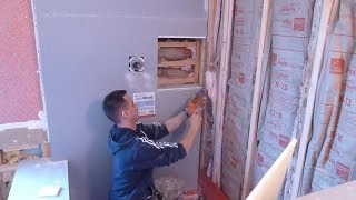 """getlinkyoutube.com-How to install shower surround tile backer board, PART """"2"""" durock or cement board"""