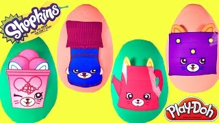 SHOPKINS Season 4 Play Doh Surprise Eggs! Petkins   Limited Edition Hunt and Complete the Set