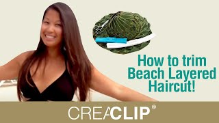 getlinkyoutube.com-How to trim Beach Layered Haircut! CreaClip Haircutting Live Vol 2 - In the Caribbean