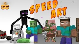 getlinkyoutube.com-Monster School [Speed Art]