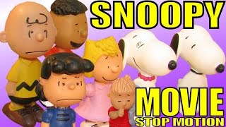 getlinkyoutube.com-Snoopy Movie with Snoopy Film Character Peanuts Trailer Charlie Brown Toys movie Peanuts figures