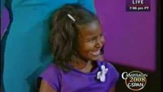 getlinkyoutube.com-Sasha Obama - A Great American Moment!