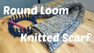 getlinkyoutube.com-Round Loom Knitted Scarf