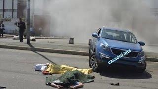 """حادثة خطيرة لدراجة نارية ضحيتها شاب وصديقته ب""""عين السبع"""" الدارالبيضاء  !!"""