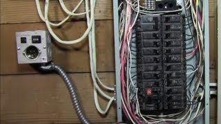 getlinkyoutube.com-RicksDIY How to Wire generator transfer switch to a circuit breaker panel DIY install Instructions