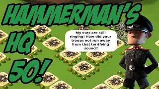 getlinkyoutube.com-Hammerman's HQ 50 Base! | All Rifleman | Boom Beach