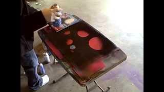 getlinkyoutube.com-(Reverse) Spray Paint Art on Glass
