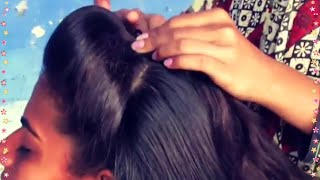 getlinkyoutube.com-Simlpe Front Poof hairstyle under 2 Minutes
