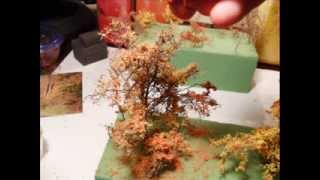 getlinkyoutube.com-Model railroad scenery:                 Modeling quick realistic trees
