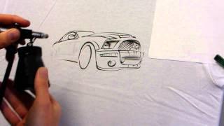 getlinkyoutube.com-Airbrush step by step T-Shirt GT500
