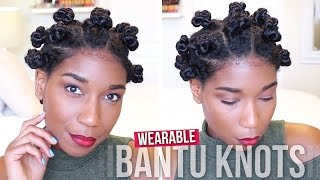 getlinkyoutube.com-Wearable Threaded Bantu Knots | Protective Natural Hairstyle