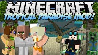 getlinkyoutube.com-Minecraft | TROPICAL PARADISE MOD! (TropiCreepers, Fancy Fish & Tons More!) | Mod Showcase