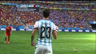 getlinkyoutube.com-Argentina Belgium 2014 World Cup Full Game ESPN Quarterfinal Quarterfinals