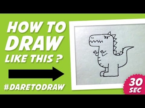How to Draw a Dragon in 30 Seconds - Cara Menggambar Naga