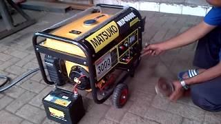 getlinkyoutube.com-Genset bahan bakar gas lpg Matsuko MJP4000E