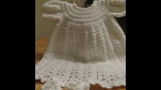 getlinkyoutube.com-Crochet Christening Gown - Video 1 - Yolanda Soto Lopez