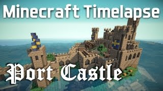 getlinkyoutube.com-Minecraft Timelapse - Medieval Port Castle