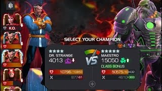 getlinkyoutube.com-Marvel: Contest of Champions - Act 4.4.6 Final Battle - Maestro w/Arc Overload Buff vs Dr. Strange