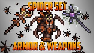 getlinkyoutube.com-Terraria - Spider Set with Armor and Weapons... and Spider-Steve