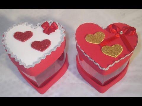 como fazer caixas em formato de coração reciclando  garrafa pet